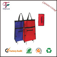 Big foldable Shopping cart bags for travelling