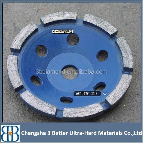 6 inch diamond cup wheel/disc for rough/finish grinding concrete stones