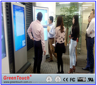 Factory price 65inch capacitive touch foil ultra thin screen touch screen through glass screen for projector or lcd