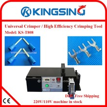 crimping & cutting & stripping machine for different cable lugs /Pedal electric type terminal KS-T808