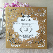 Classic pocket 2017 wedding invitation laser cut flower shimmer card custom 21 colors ,custom size and printing inside card