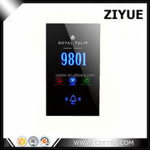 258MM Hotel Electronic Doorplate, Touch Control Doorbell, Tempered Glass Panel