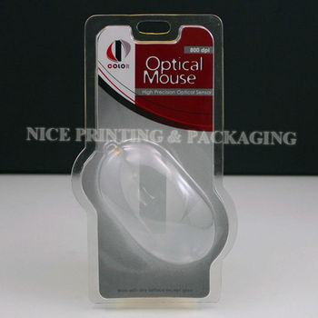Computer plastic Mouse blister packaging of new design