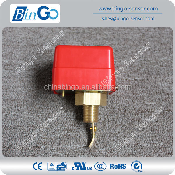 Magnetic reed paddle wheel fluid flow switch with large flow rates