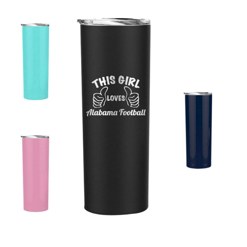 20 oz  Black Stainless Steel Thermal Double Wall Tumbler