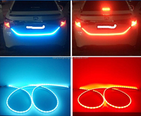Red Blue Flexible Car Tail LED Strip Light LED Light Bar Backup Reverse Brake Tail Turn Signal Light for Truck Cars/suzuki alto