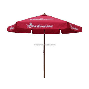 Polyester Fabric Logo Printed Outdoor Advertising Garden Pation Umbrella Parasol