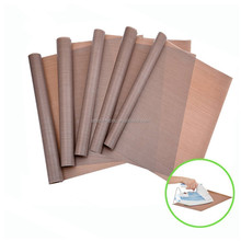heat transfer brown color ptfe teflon coated fiberglass sheet /paper