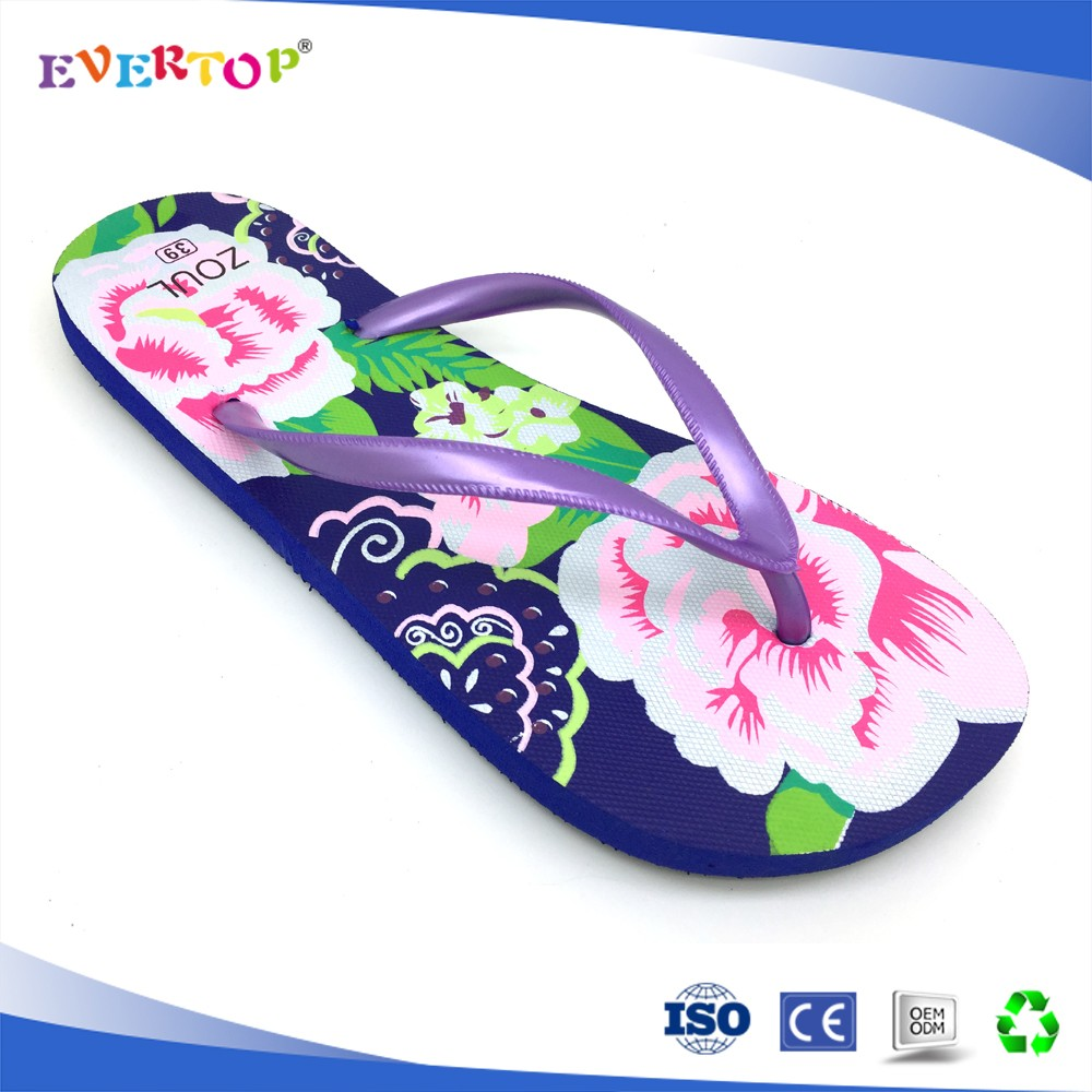 2016 sexy feet simple design zebra-stripe printing hotel batchroom slippers spa flip flop shoes