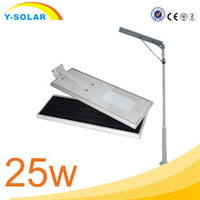 Y-SOLAR SL-25W-H 27 pcs bulbs portable solar led post cap wind street light with 25w IP65