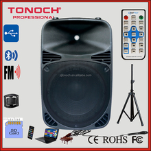15 inch Outdoor PA Bluetooth Speaker with High power Class-AB amplifier /LED Mp3 Player / USB/SD/Remote Control (THE15)