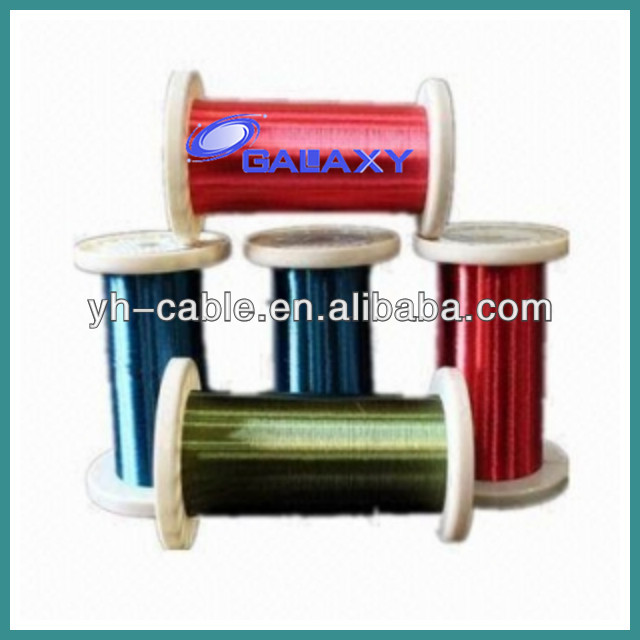 Enamelled CCA colored copper clad aluminum insulated wire