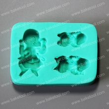 Children body shape fondant cake silicone mold for cake decoration