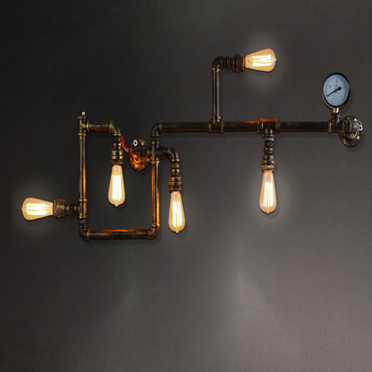 Reminiscent bronze vintage wall lamp outdoor used industrial lighting for Clothing Store