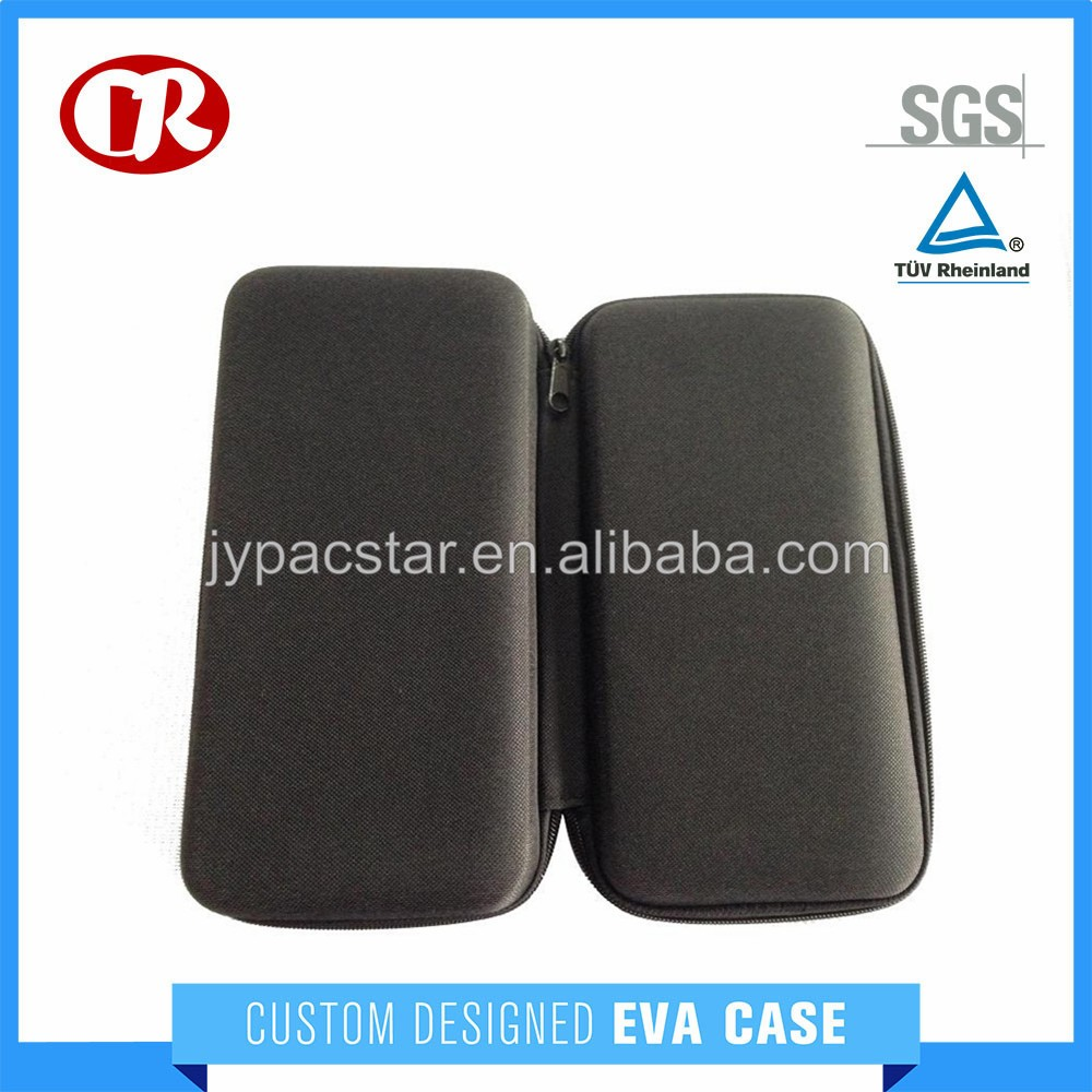 Hard PU material surface storage function eva foam case with zipper