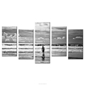 Surfing Boy Photo Prints 5-Panel Canvas HD Picture Printing Fashion Wall Art Living Room Bedroom Decoration Wholesale