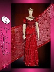 Pakistani Bridal Dresses( Red Jamawar Lengha )
