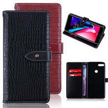 Customized Magnetic Card Holder PU Leather Flip Wallet Mobile Cell Phone Accessories Protection Back Case for Huawei Honor 8