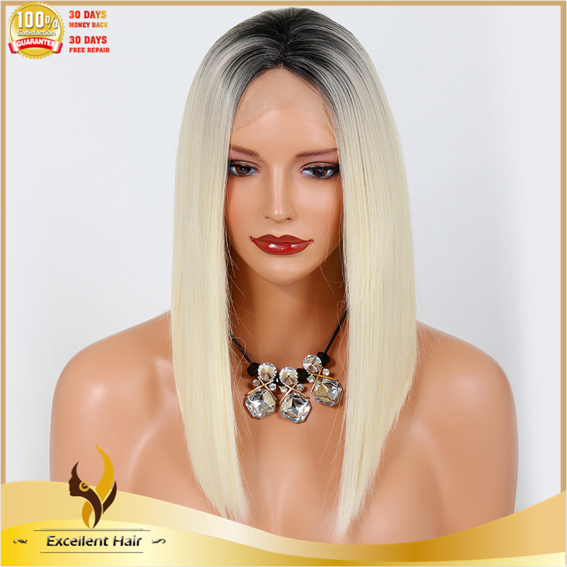 New style two tone color bob synthetic lace front wig