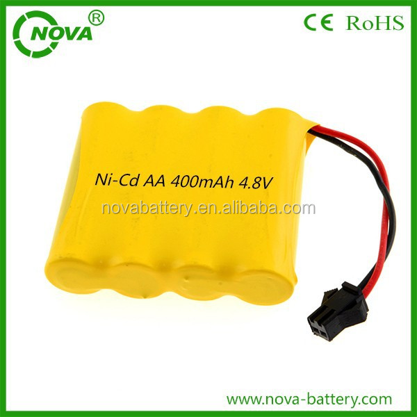 ni-cd aa 400mah 4.8v rechargeable battery pack for toy car