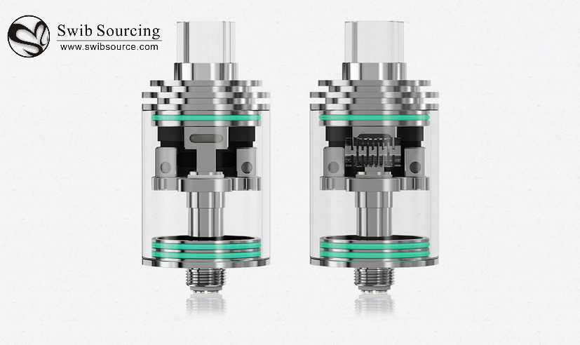 2016 newest atomozer WISMEC Theorem RTA tank Kit features optional atomizer tube and airflow control rings from Swib