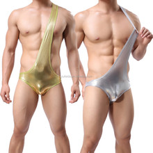Fashion Faux Leather One Piece Men JockStrap Mankini <strong>Sexy</strong> Mens <strong>Underwear</strong>