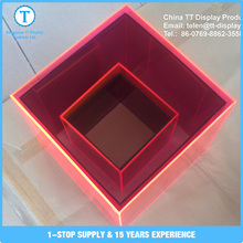 Reasonable price good quality red plexiglass acrylic square box