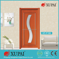 China xupai Cheap PVC Laminated Toilet Wood interior exterior Door