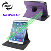 Leather Flip Cover for iPad Air Smart Case with 3 Gears and Dormancy Function