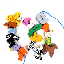 FQ brand high quality custom kids baby DIY educational wooden string bead toy