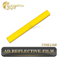 2015 Hot Selling Digital Advertising Yellow Reflective Sticker Sheet