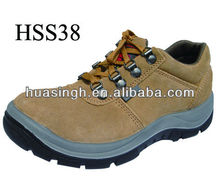 JY,yellow suede upper shock resistant outdoor training super anti-abrasion safety sports shoes