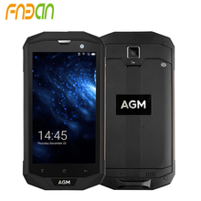 2017 Hot sale AGM A8 Android 7.0 Nougat smartphone OEM waterproof Rugged 4G LTE Smart phone with NFC