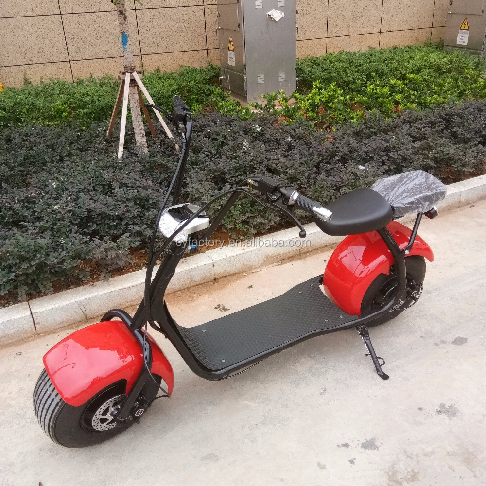 China yongkang popular product CE fat tyre 1000w electric scooter with headlight