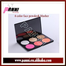 wholesale 6 Color Makeup Face Powder Foundation & Blusher Palette 02#