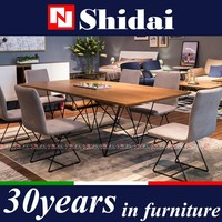 Contemporary Walnut Dining Room Furniture For Big Home A-828