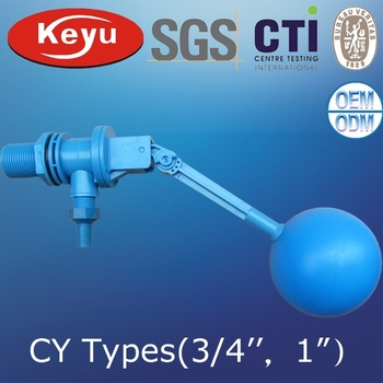 "3/4"" Quick Stop Plastic Float Ball Valve For Water Tank"