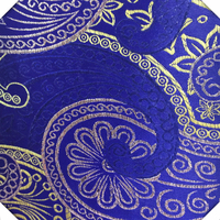 Brocade China textile supply bright sapphire blue poly fabric
