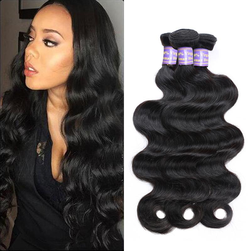 7a Brazilian Virgin Hair Body Wave Human Hair Weave 3 Bundles Ishow