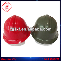 ABS Material Fire Fighter Helmet / Green or Red Color