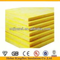 Kingflex glass wool pipe/roll/ board fireproof via CE