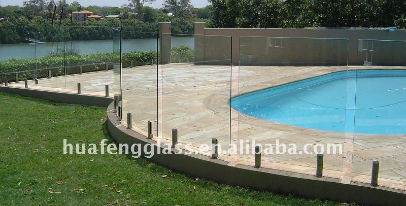 10mm 12mm 5 tempered glass fence for Barriere piscine verre prix