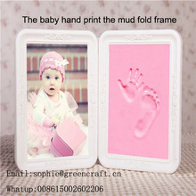High quality baby hand and feet mould kit in display frame