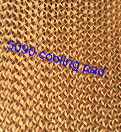 Evaporative cooling pad for poultry and green house
