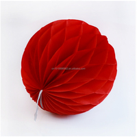 DIY Red Party And Event Decoration 6''(15cm) Paper Honeycomb Lantern Party Wedding Decoration 12 Colors