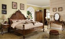 solid oak twin bed