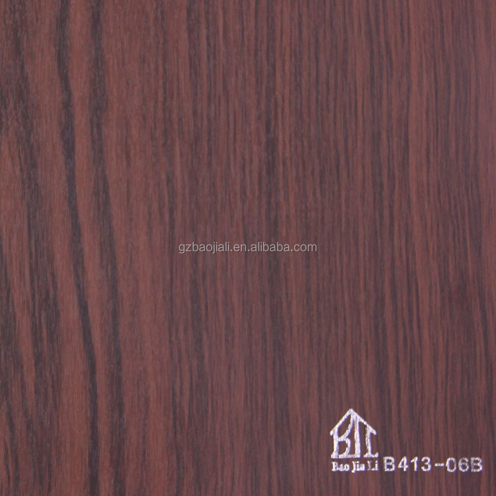 High glossy decorative wooden grain PVC film for door