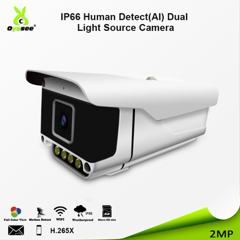 Dual Type LED AI  H.265+1080P starlight audio in sony 307 sensor outdoor network security camera