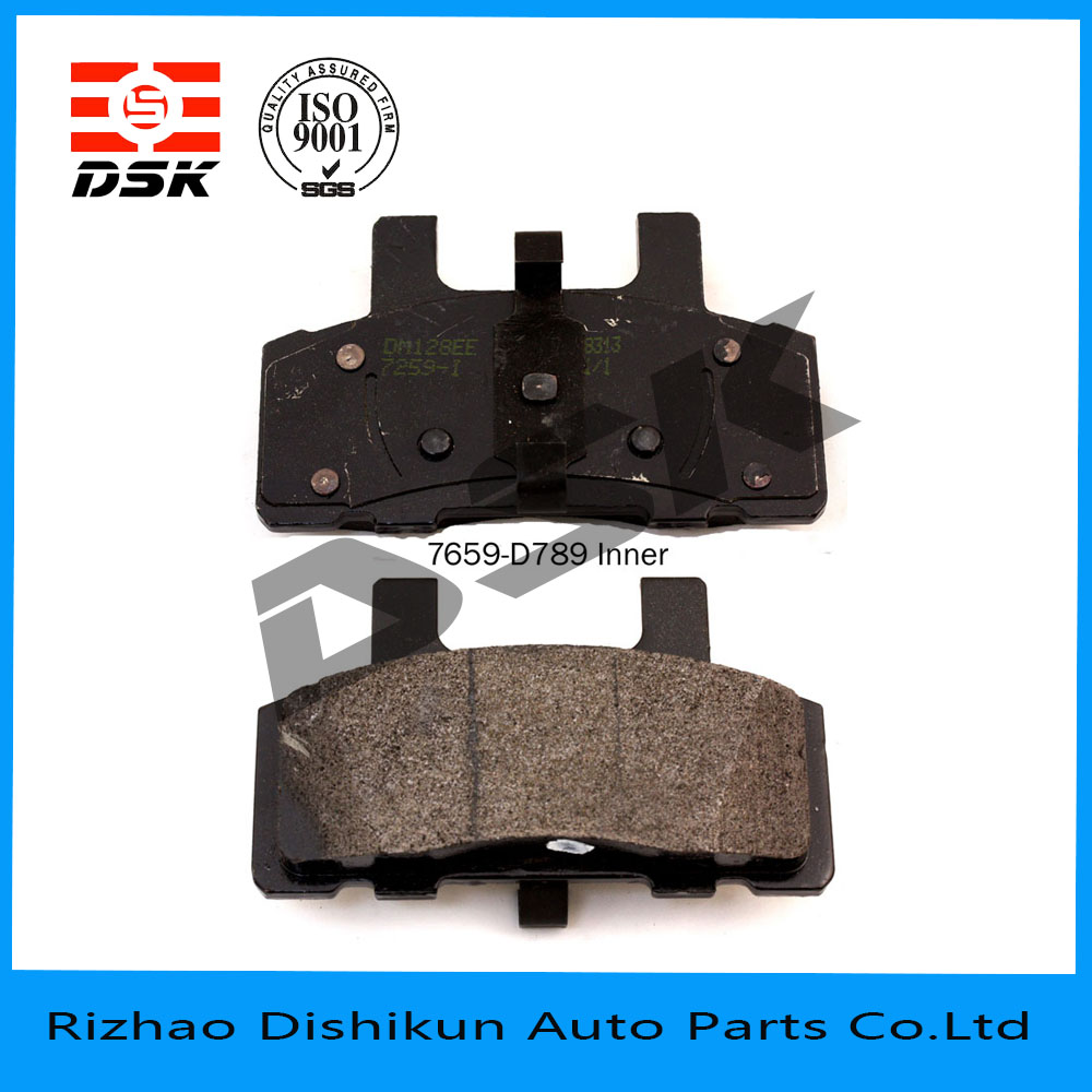 factory top quality brake pad d789-7659 for Chevrolet/GMC