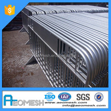AEOBARRIER Galvanized Road Barrier Temporary Fence Crowd Control Barrier Security Barrier